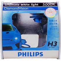 Lâmpada H3 Philips Diamond Vision 5000k - Efeito Xenon