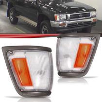 Lanterna Dianteira Pisca Hilux 4x2 92 Até 2001 Moldura Cinza