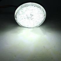 Lanterna Traseira Universal Redonda Led Atv Buggy Branca