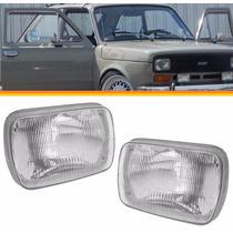 Par Farol Fiat 147 76 77 78 79 C/ Lente Vidro Modelo Antigo