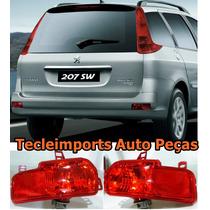 Par Lanterna Neblina Refletor Peugeot 207 Sw Sedan Original