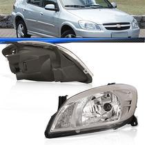 Farol Celta Hatch 10 2009 2008 2007 Máscara Cromada Veículo