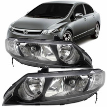 Farol New Civic 2007 2008 2009 2010 2011 Esquerdo