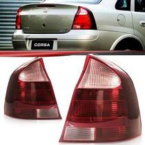 Lanterna Traseira Corsa Sedan 2008 2009 2010 2011 Rosa