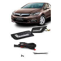 Kit Drl Honda Civic 2012/2013/2014/2015/2016 Com Moldura