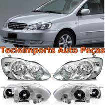 Par Farol Toyota Corolla 2003 2004 Pronta Entrega Novo