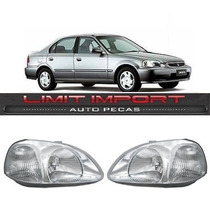 Par Farol Honda Civic Ano 1996 1997 1998