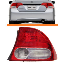 Lanterna New Civic 07 08 09 10 11 Canto Bicolor Original Ld