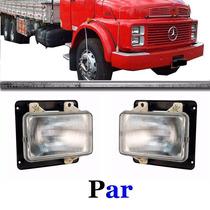 Par Farol Caminhão Mercedes 1113 1313 1513 Bxo S/aro S/sup