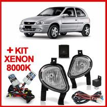 Kit Farol Milha Corsa 2000 A 2002 Classic 2003 A 2009 +xenon