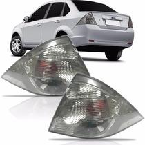 Par Lanterna Fiesta Sedan Fumê 2010 2011 2012 2013
