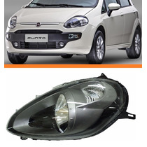 Farol Fiat Punto 2012 2013 2014 2015 Mascara Cinza Esquerdo