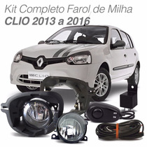 Kit Farol De Milha Completo Renault Clio 2013 2014 2015 2016
