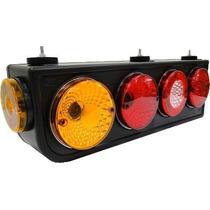 Lanterna Traseira Caminhao Tricolor Gf260 Led 24v