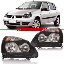 Farol Clio Hatch Sedan 12 A 08 07 06 05 04 03 Máscara Negra