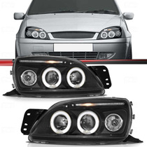 Farol Fiesta Led 01 02 03 Courier Led 2000 / 2010 Black Par