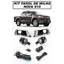 Kit Farol De Milha S10 2013/2014 - Com Botão Tipo Original