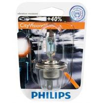 Lampada Philips H4 City Vision Moto 40% + Luz 35/35 W