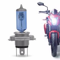 Lampada Super Branca Moto H4 4300k Blue Vision 35 Watts