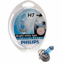 Lampada Philips H7 Crystal Vision Ultra Luz Branca (par)