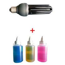 Lâmpada Negra Neon + 3x Tintas Invisíveis (300ml Total)