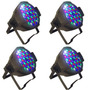 Kit 4 Refletor Led Par 64 Rgbw 54 Leds 3w Digital Strobo Dmx