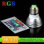 Spot Led 3w Rgb Direcional Com Controle Remoto 24 Funções
