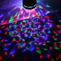 Lâmpada De Led Colorido Giratória Rotativa Bola Maluca Festa