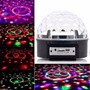 Kit 8 Bola Maluca Led Rgb Crystalball Balada Festa Mp3 Led