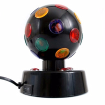 Globo Giratório Com Luzes Coloridas Para Festas