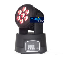 Moving Head C/ 7 Leds De 12w, Rgbw, Dmx, Quadri-led, Prof
