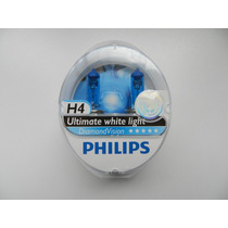 Par Lampadas Philips Diamond Vision Original H4 5000k 55/60w