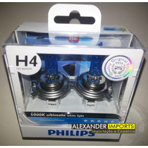 Kit Lampada Original Philips H4 Diamond Vision 5000k