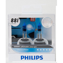 Lâmpadas Original Philips Diamond Vision 881 H27 5000k