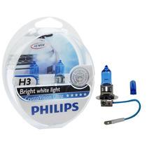 Lâmpada Philips Crystal Vision Ultra H3 Super Branca - Par