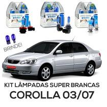 Kit Lâmpadas Super Brancas Tech One Corolla 03 04 05 06 07
