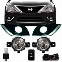 Kit Farol De Milha/neblina Nissan Versa 2016+lâmpadas Brinde