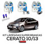 Kit Lâmpadas Super Brancas Tech One Kia Cerato H1 + H7 + H27