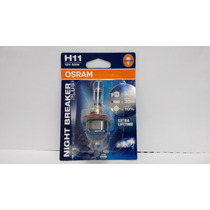 Lampada Osram Night Breaker Plus H11 Par Farol