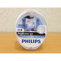Lampada H4 Crystal Vision Philips 4300k Farol Super Branca