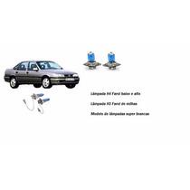 Lâmpadas Super Brancas H4 H3 55w Farol Milha Vectra 93 94 95