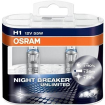Lâmpadas Farol Alto Polo Sedan 2007 Osram Night Breaker-h1