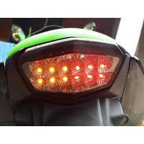 Lanterna Leds Piscas Integrados Cristal Kawasaki Ninja 250r