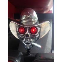 Caveira Cowboy Acende Olho Caminhão Moto