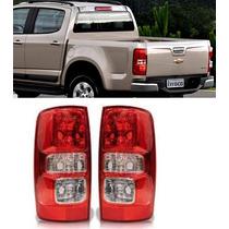 Lanterna Traseira S10 12 13 Bicolor Nova Original Par S/ Led