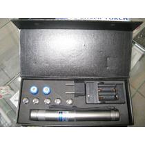 Laser Pointer Azul Torch 50.000mw Com 5 Ponteiras Metálicas