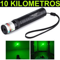 Super Caneta Laser Pointer Verde + Kit Completo 10km