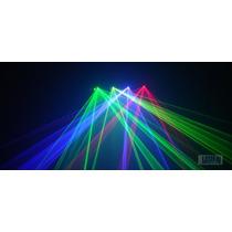 Laser Show Azul 4 Saídas 4 Cores Dmx, Áudio-rítmico, Bivolt