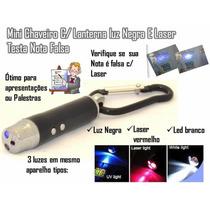 Lasers 3x1 Luz Negra - Lanterna - Testa Nota Falsa Completo