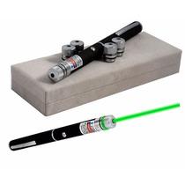 Caneta Laser Pointer 500mw Reais Verde Green 5 Pontas Pilhas